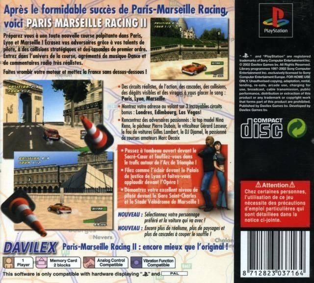 Paris Marseille Racing Ii Psx Cover