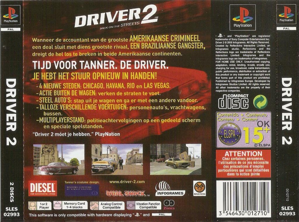 Driver 2 PSX cover