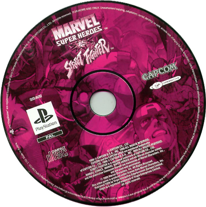 Marvel Super Heroes vs. Street Fighter PSX cover