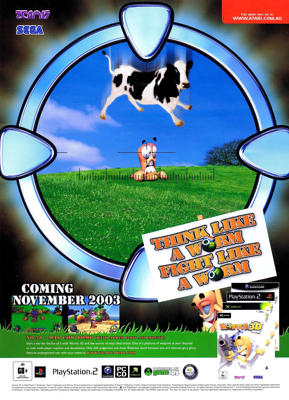 Worms 3d Pal European Advert