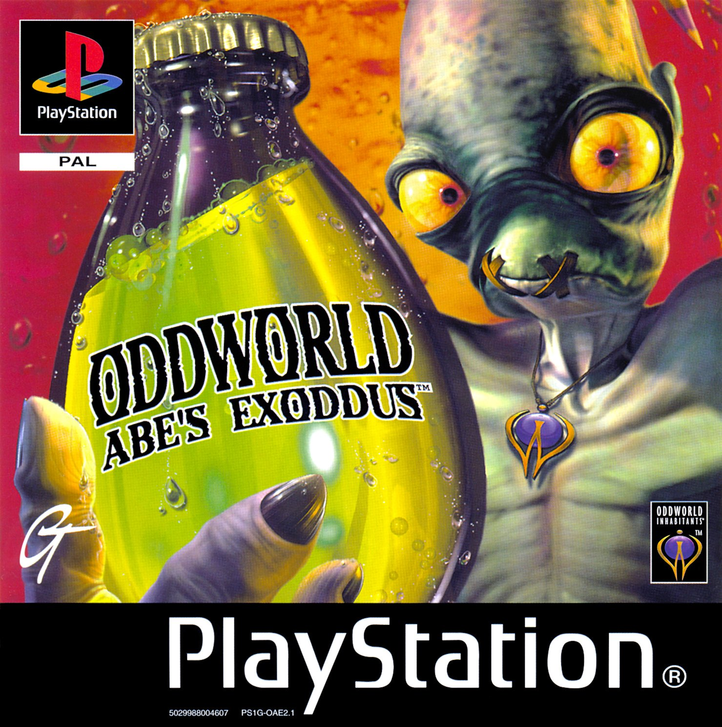 Oddworld - Abe's Exoddus PSX cover