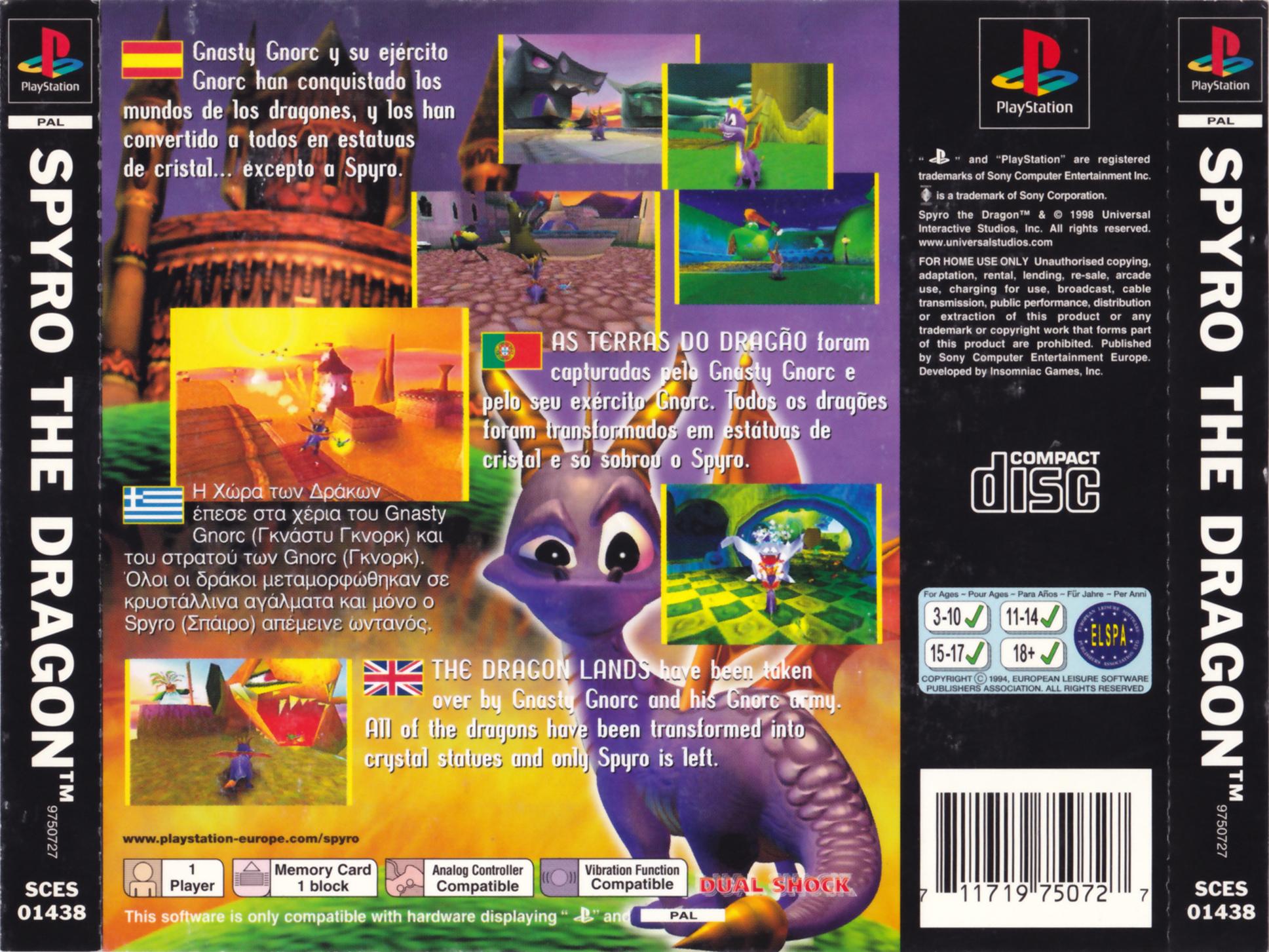 Spyro the Dragon PSX cover