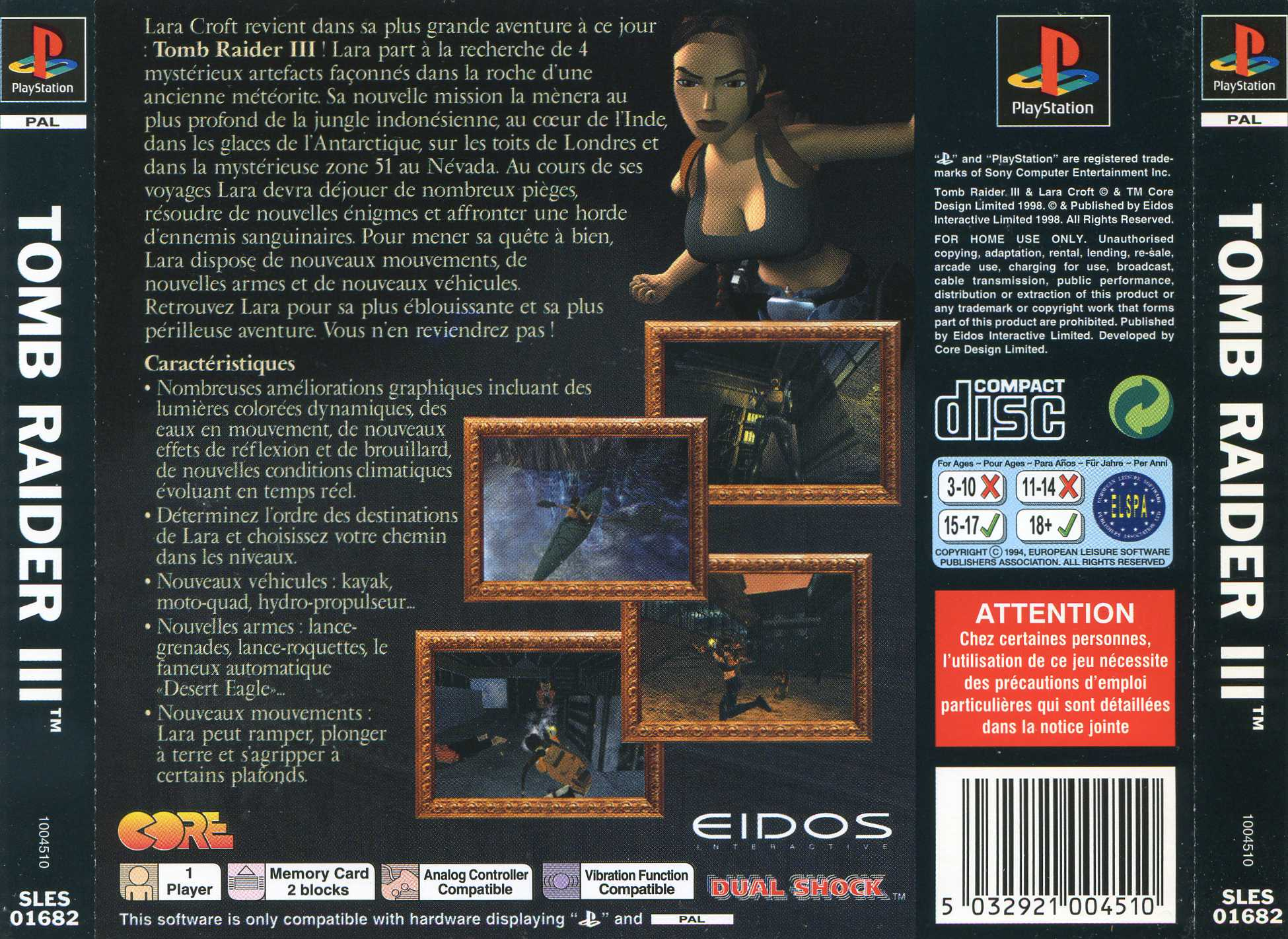 tomb raider ps1 cover