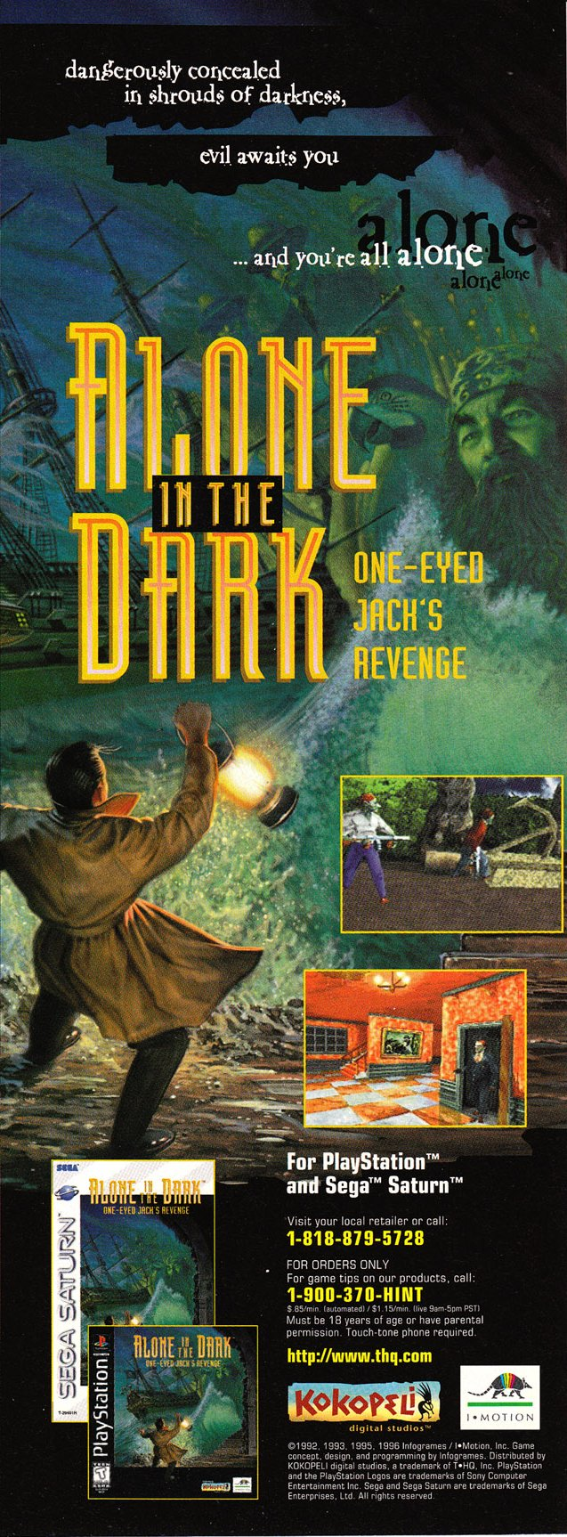 Alone In The Dark 2 One Eyed Jack S Revenge Ntsc U Usa Advert