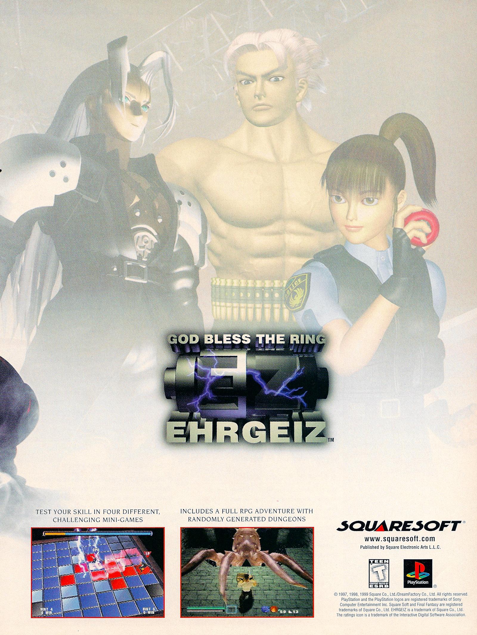 EHRGEIZ   GOD BLESS THE RING NTSC U   USA ADVERT ALTERNATE PAGE 20