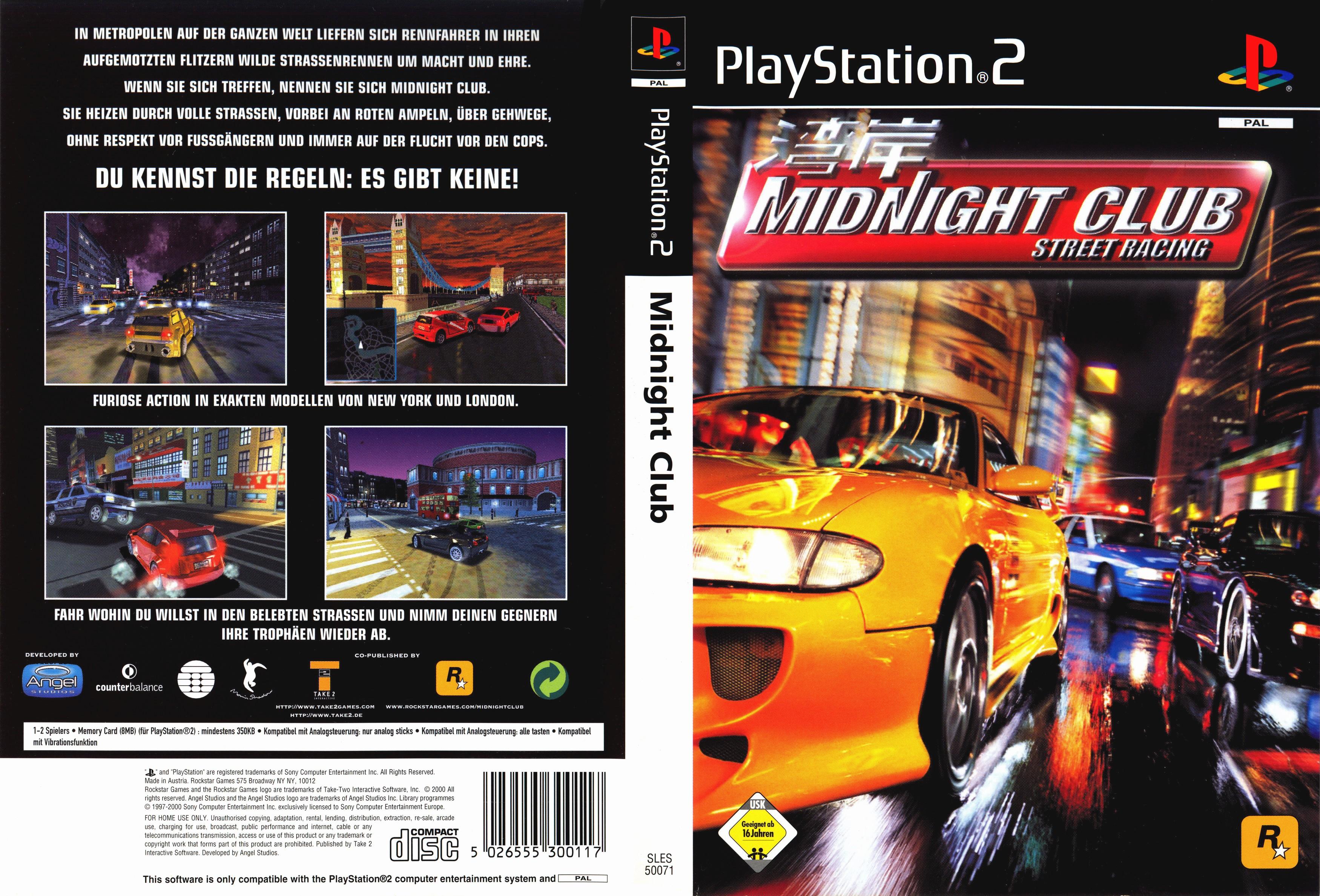 Midnight Club Street Racing Pal Front