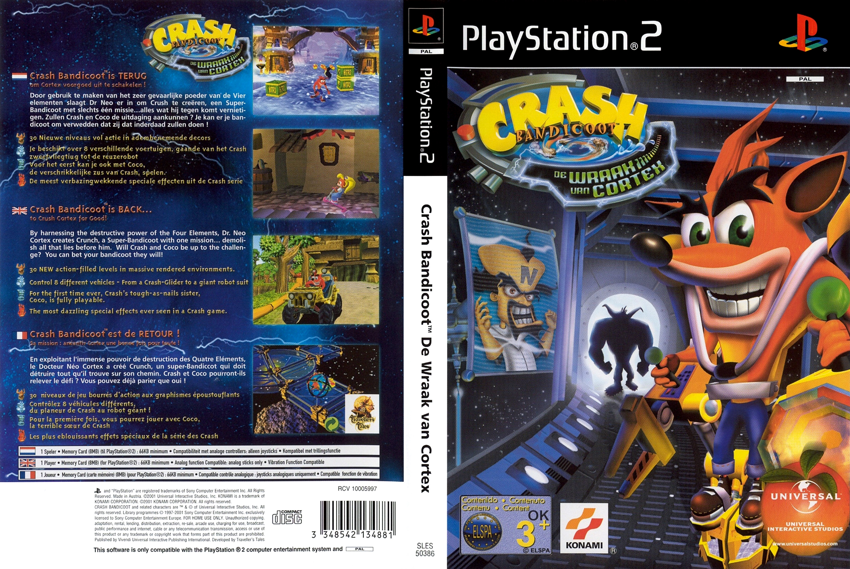 CRASH BANDICOOT - THE WRATH OF CORTEX (PAL) - FRONT