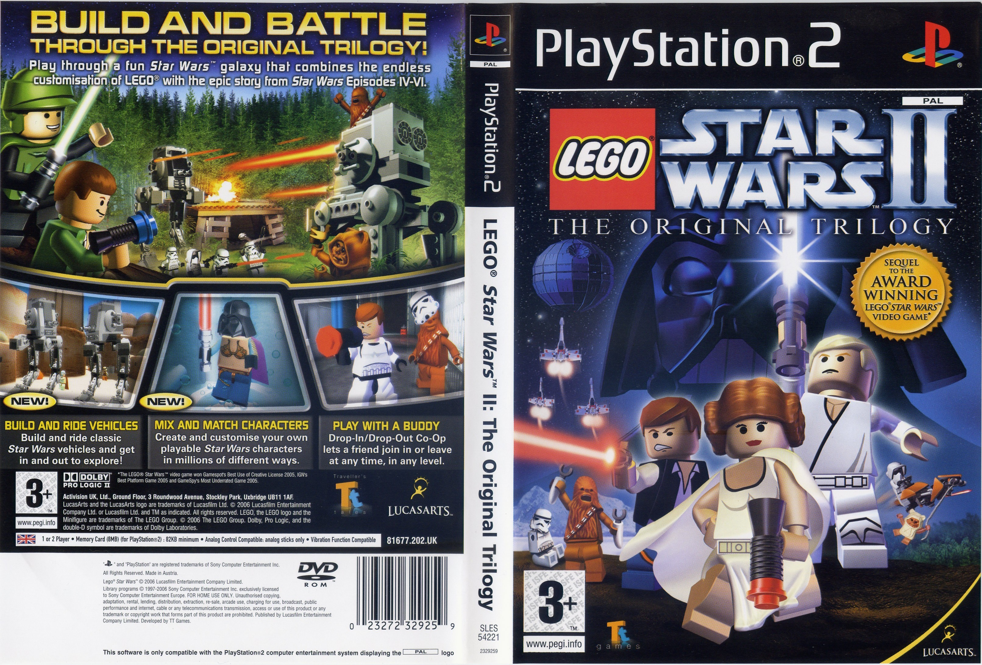 Lego Star Wars Ii The Original Trilogy Pal Front
