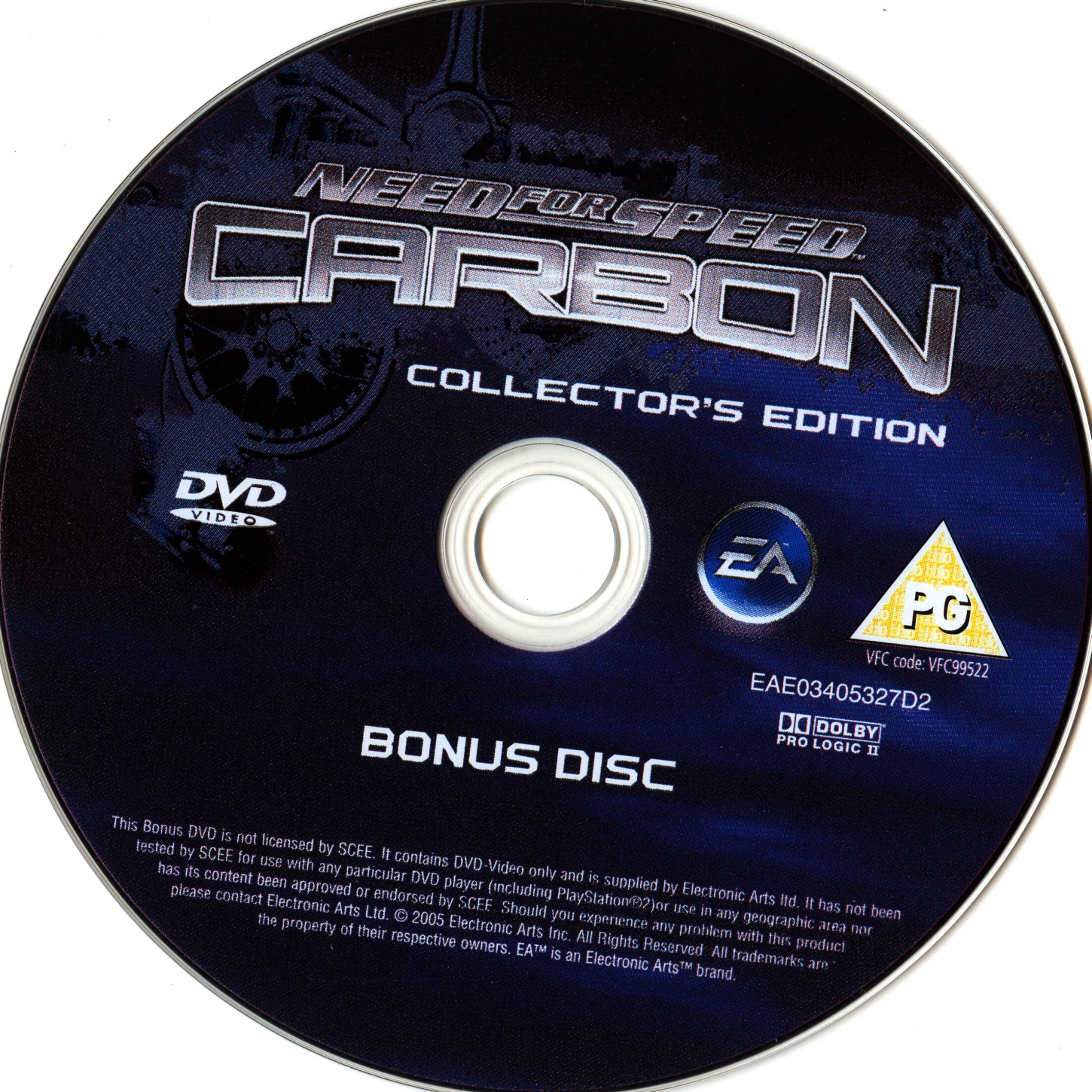Need For Speed Carbon Collector S Edition Pal Bonus Disc