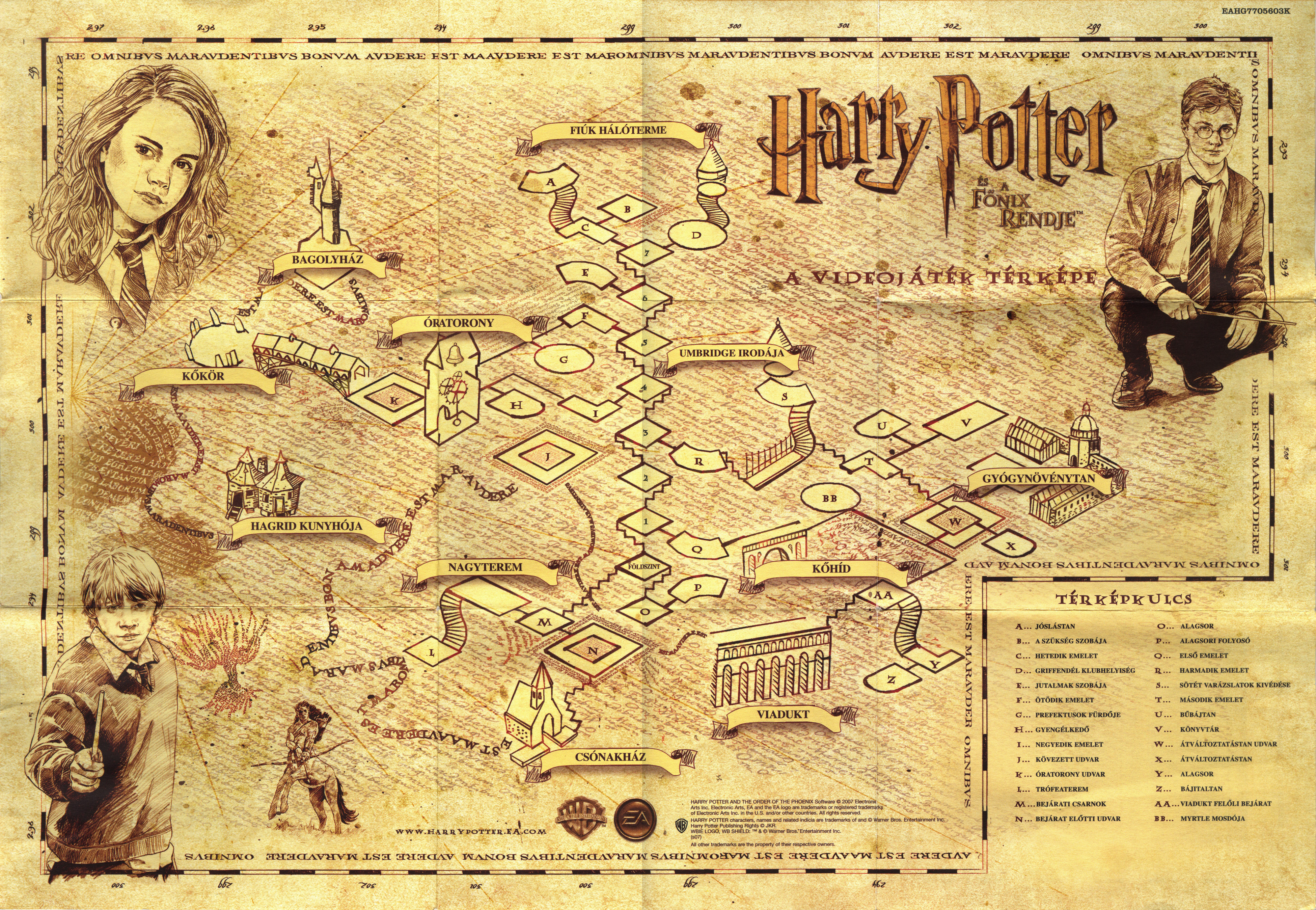 Harry Potter And The Order Of The Phoenix Pal Map Front