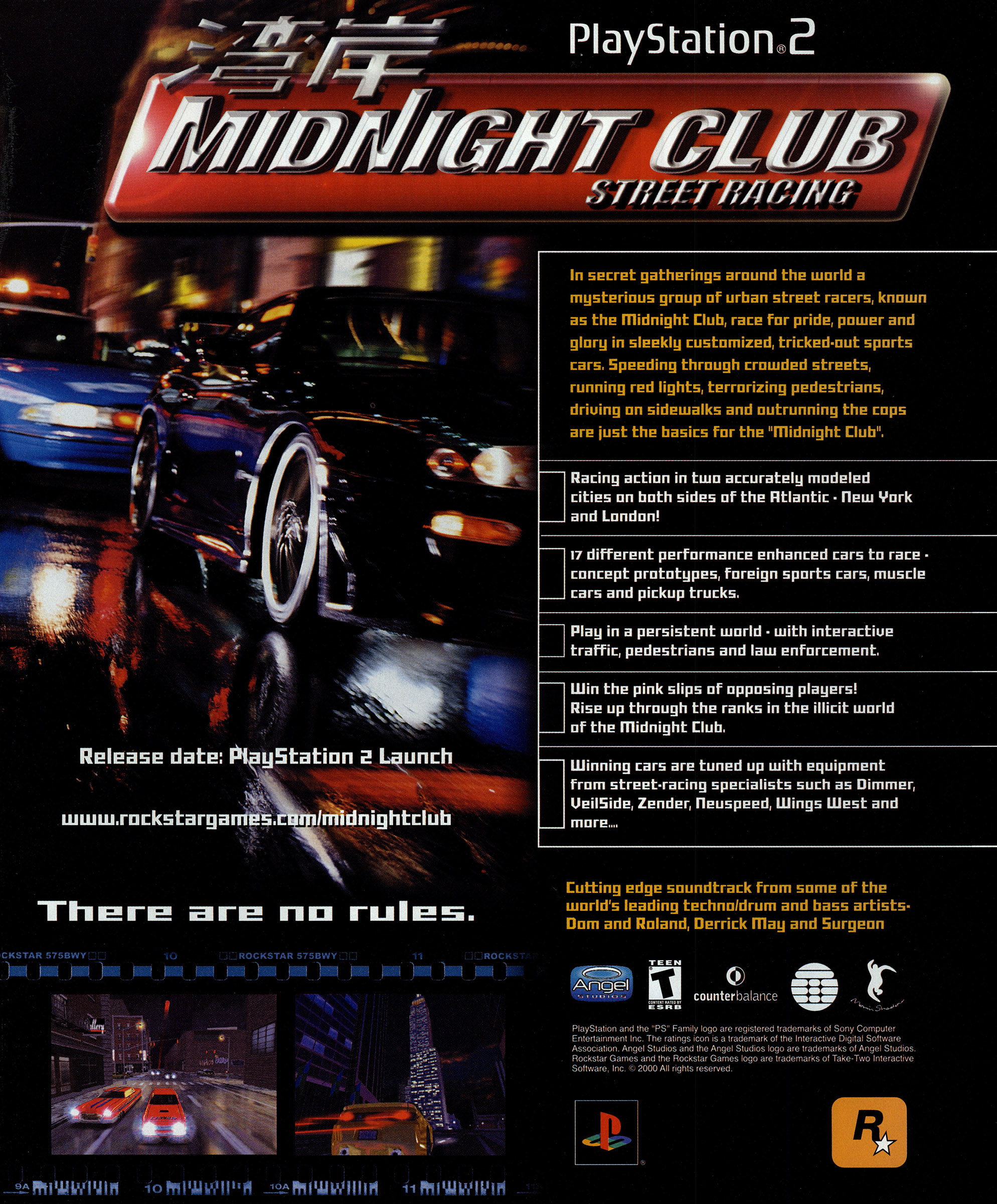 Midnight Club Street Racing Ntsc U Usa Advert Alternate Page 2