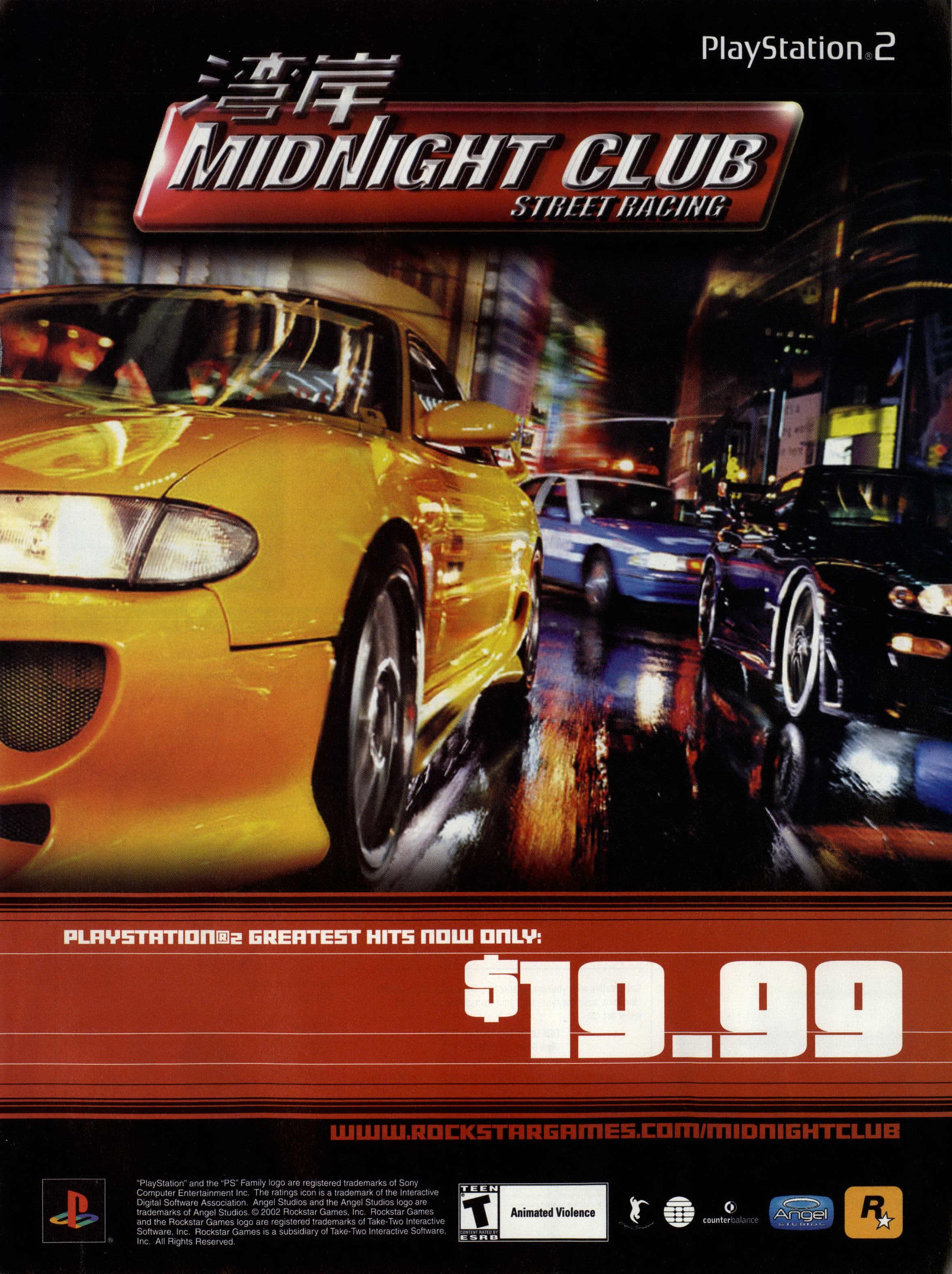 Midnight Club Street Racing Ntsc U Usa Advert