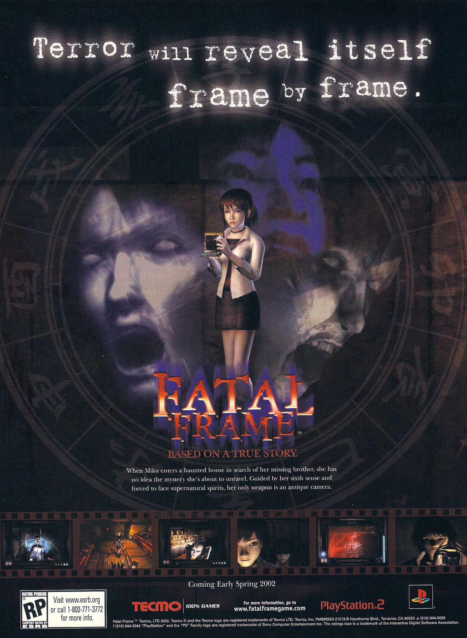 FATAL FRAME (NTSC-U) - USA ADVERT