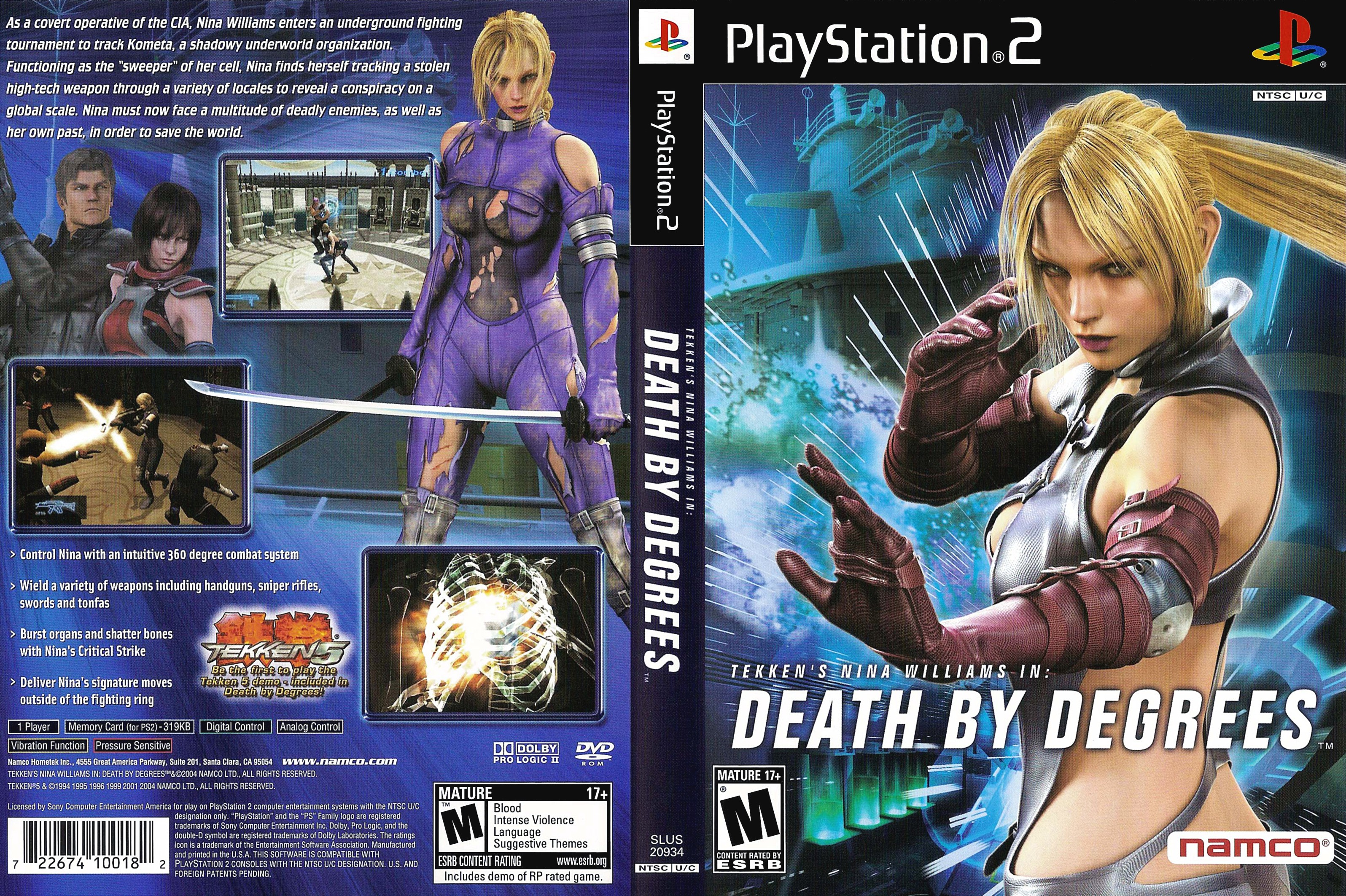 Tekken S Nina Williams In Death By Degrees Ntsc U Front
