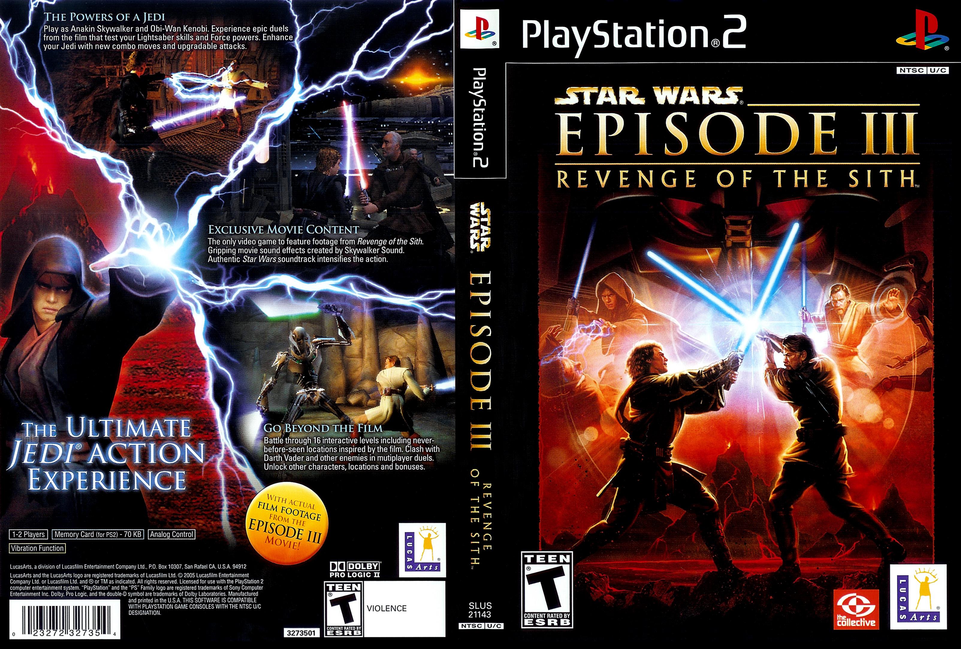 Star Wars Episode Iii Revenge Of The Sith Ntsc U Front