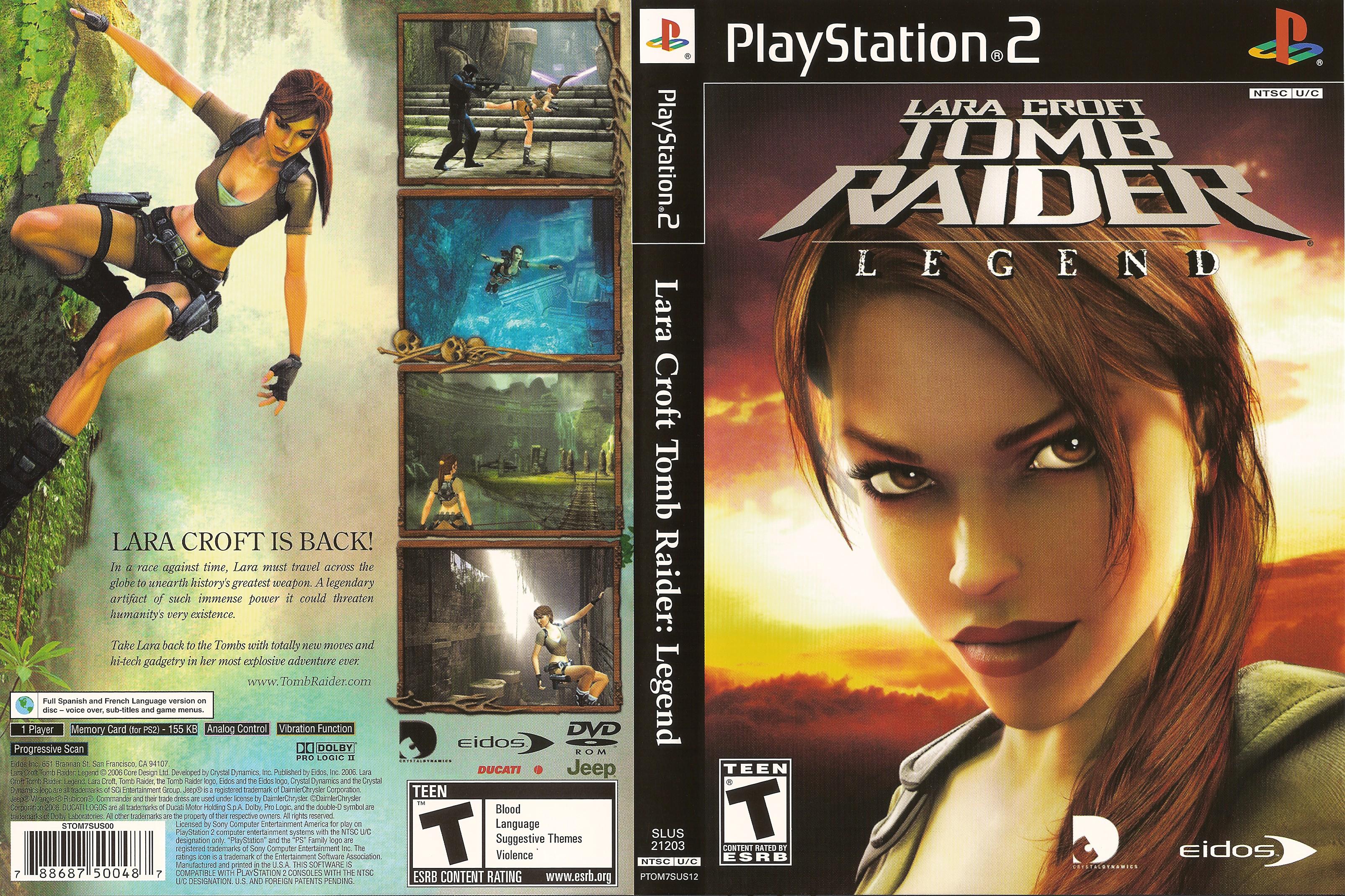 Lara Croft Tomb Raider Legend Ntsc U Front