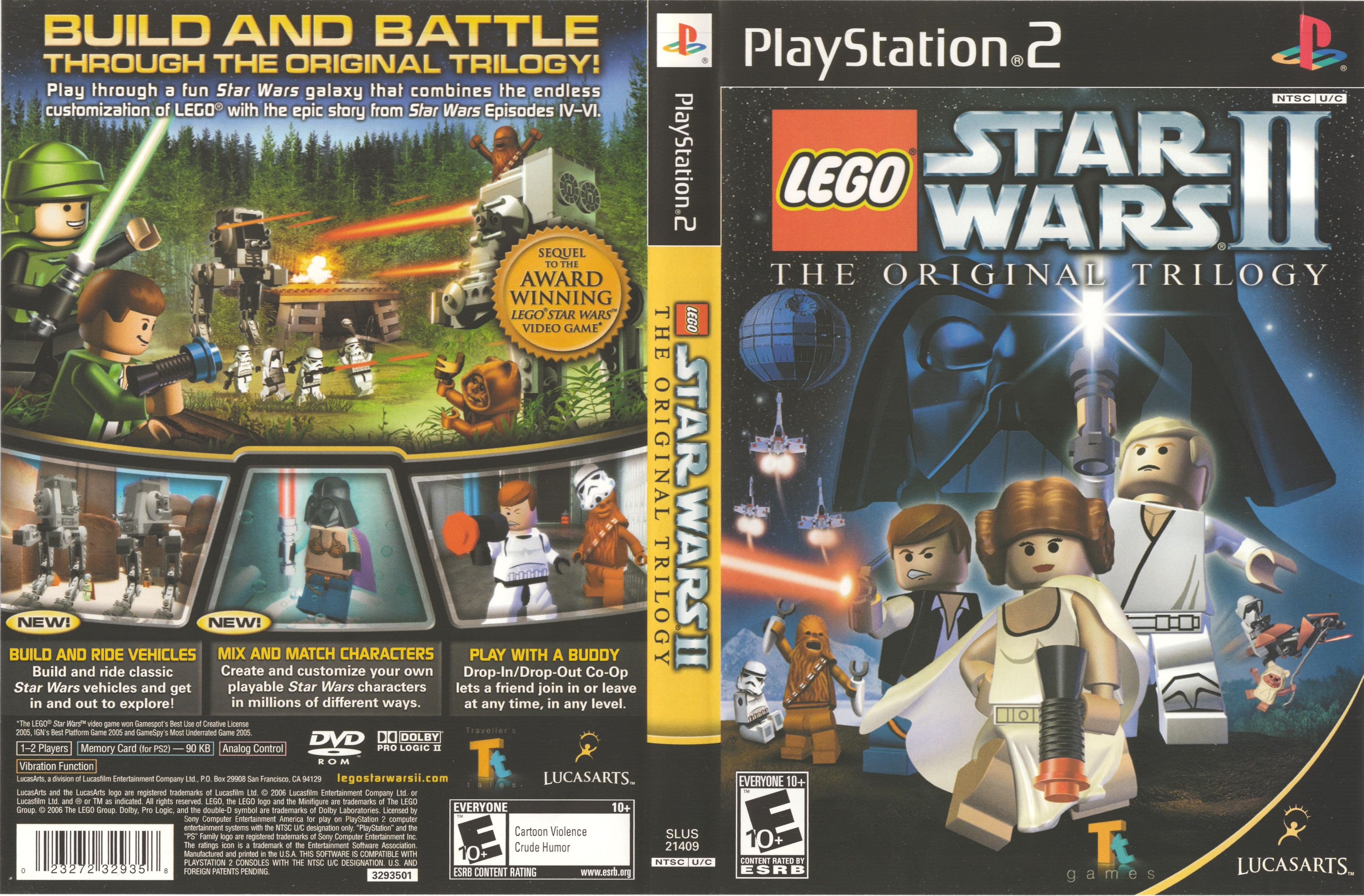 Lego Star Wars Ii The Original Trilogy Ntsc U Front