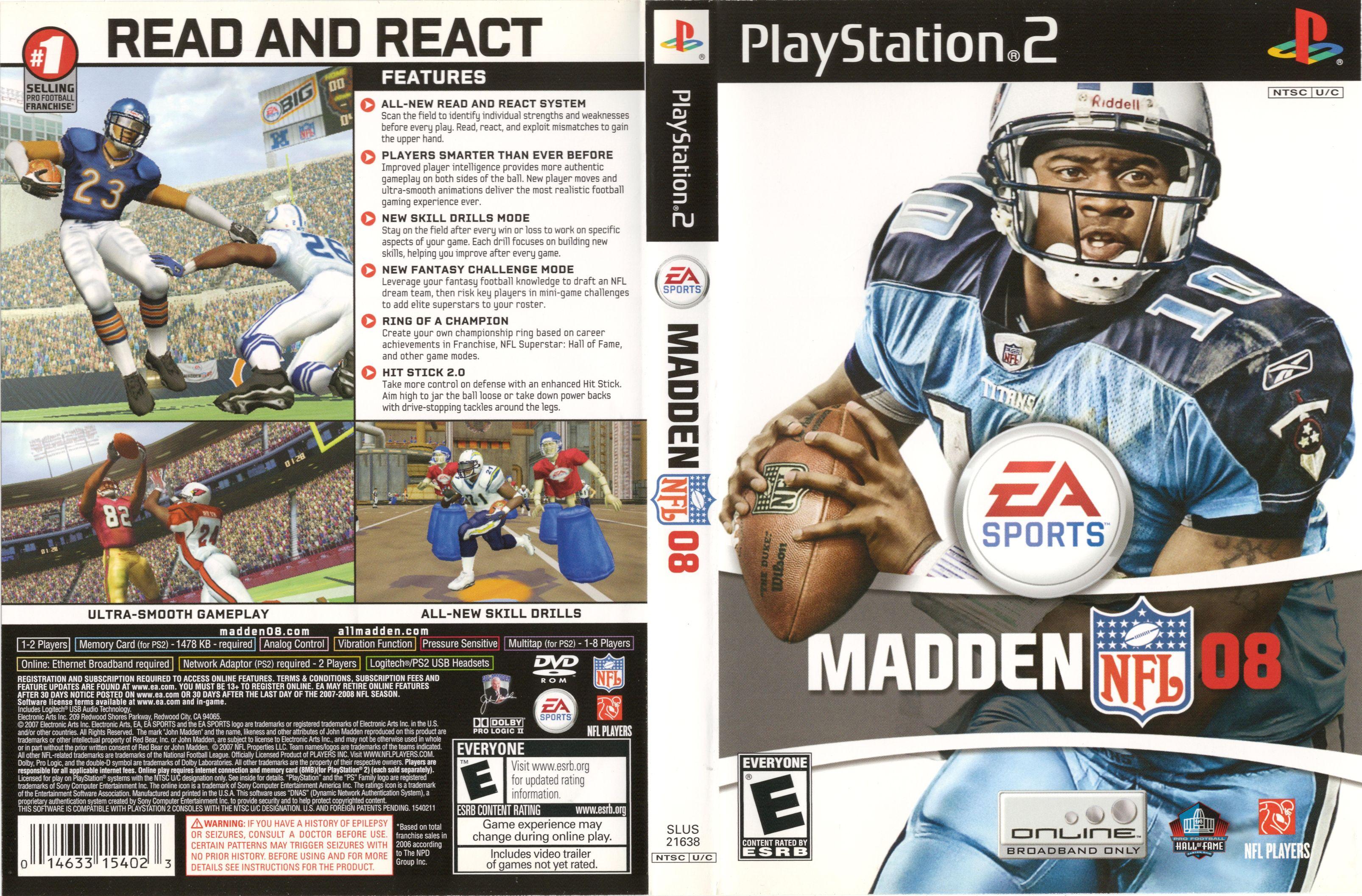 MADDEN NFL 08 (NTSC-U) - FRONT